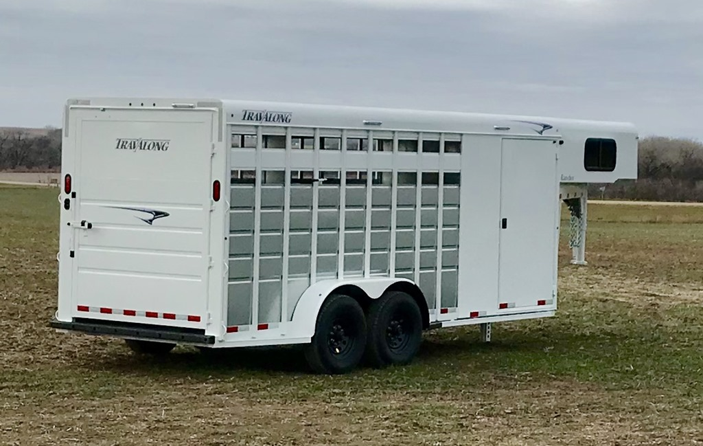Come see a New 2018 TravAlong Stock/Combo Trailer at the Idaho Horse Expo 2018